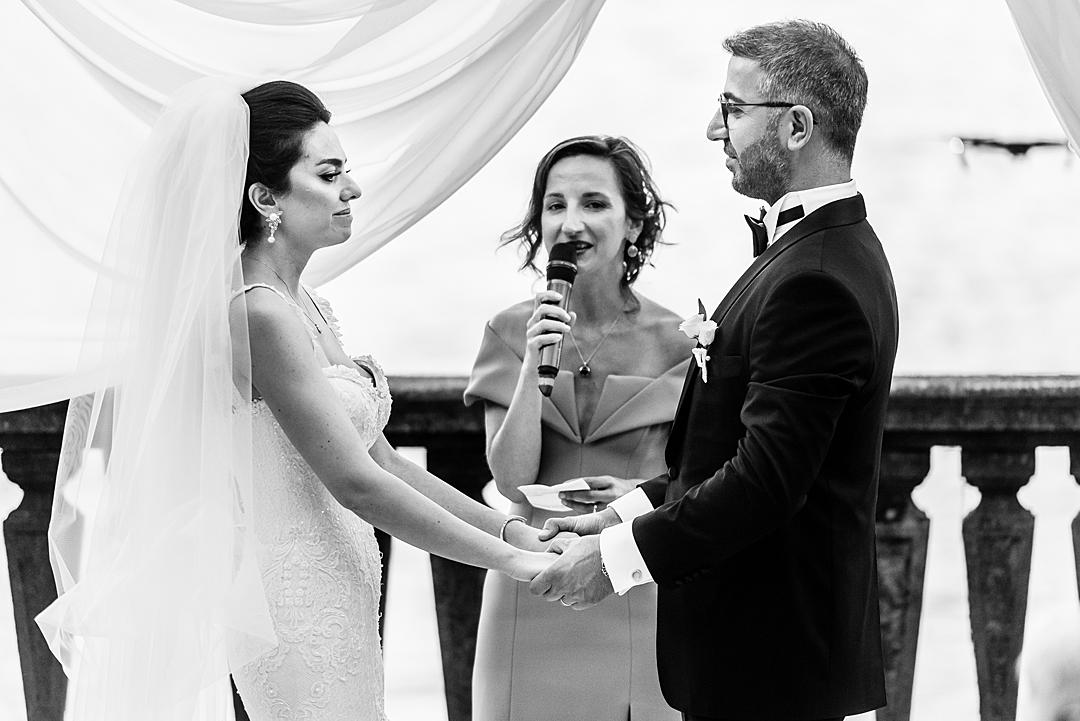 The Wedding Vows Marriage Ceremony at Villa Pizzo Lake Como