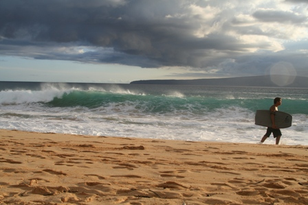 walking on Makena Beach