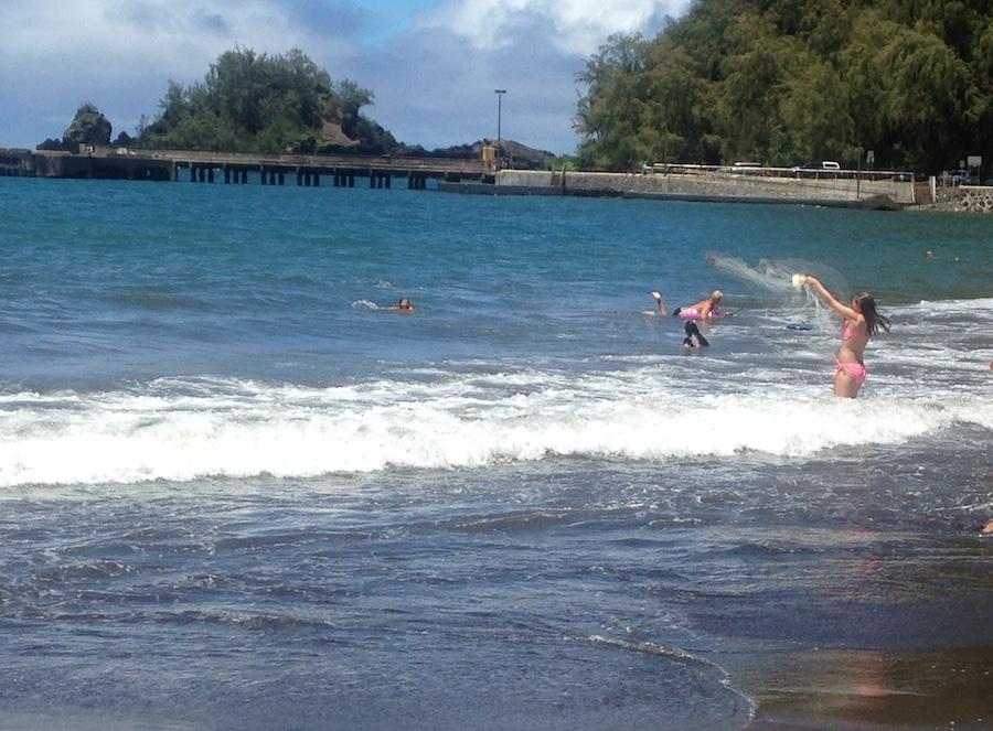 Liza Learned Hawaiian Throw Net Fishing At Travaasa Hana