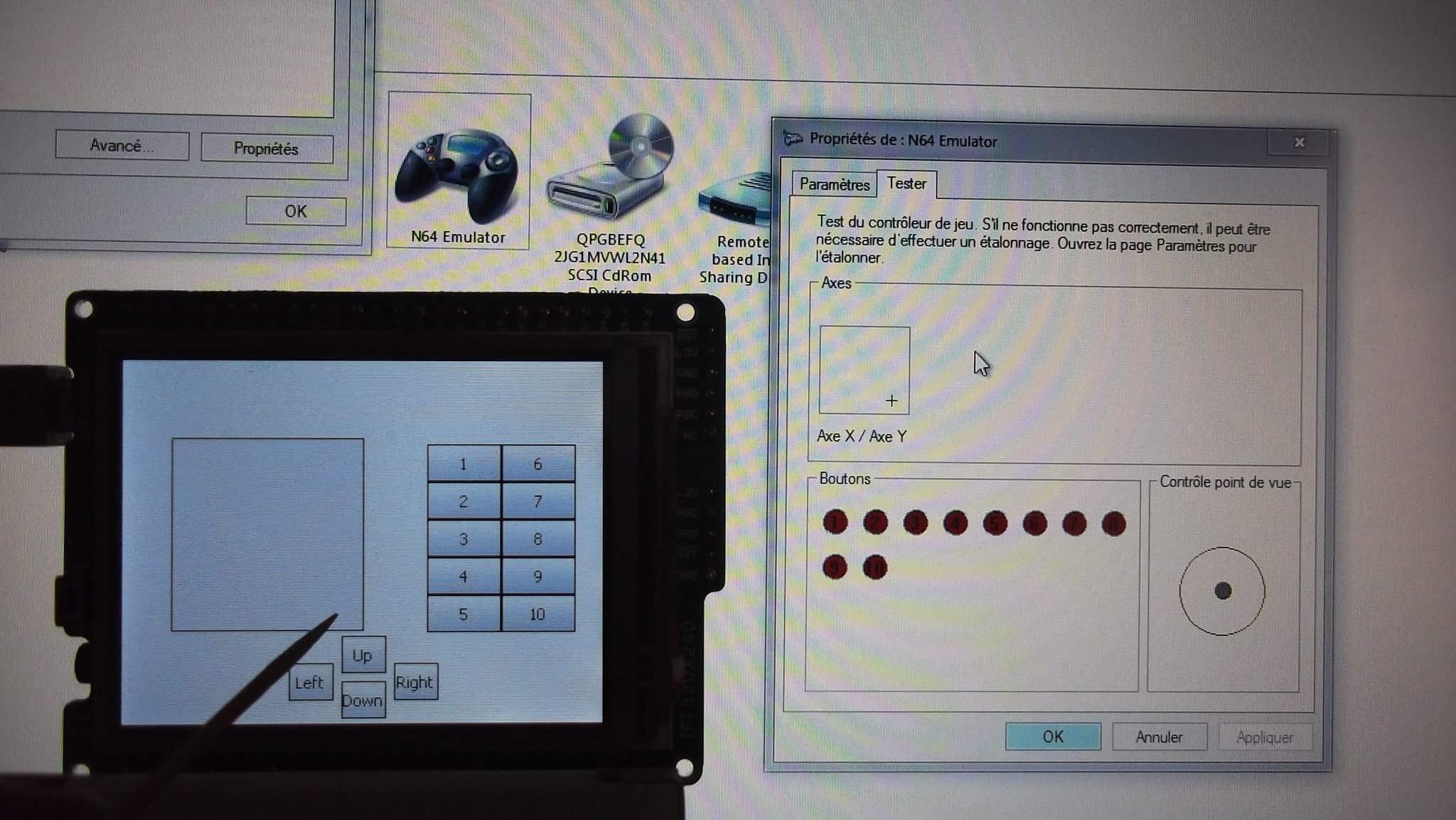 Joystick USB sur PIC32