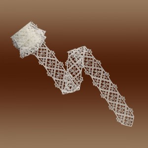 """Hochwertiges Tischband Spitzenband """"Sissi"""" Meterware Luftspitze natur 10cm breit"""