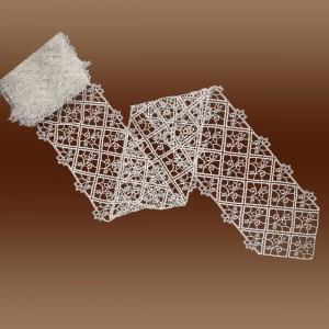 """Hochwertiges Tischband Spitzenband """"Sissi"""" Meterware Luftspitze natur 18cm breit"""