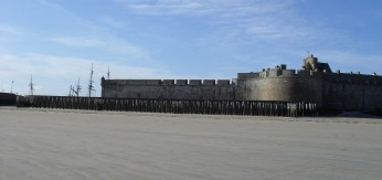 View of the walls I took at low tide, spring 2012.