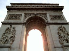 Arriving early in the morning we found the Arc de Triumphe uncrowded and the wonderful morning sun shining directly through the archway.