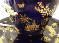 This is one of a pair of Russian Gardiners Porcelain teacups I found dusty and unloved in a local antique shop.