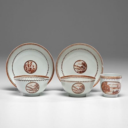 A set of similar items with the view on the tea cup on the right. What is it of?
