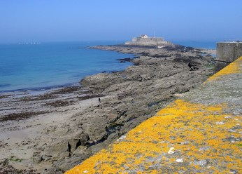St Malo Fort at low tide