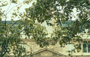 We came upon this building in the Parisian autumn just as the leaves had started to fall. Our last day in Paris adding a piquancy to the image.