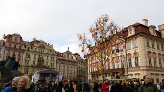 The Easter Market in the Historic Square.
