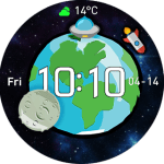 AmazfitCentral Watchface – Time and Space