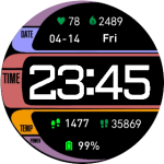 LCARS Star Trek TNG Watchface