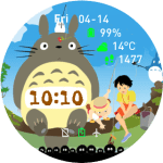 Totoro Watch Face for Amazfit Pace