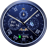 Luna analo blue Pace watchface