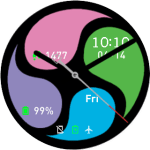 Amazfit Pace Watchface – 4 Colors Wheel 2 S