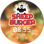 Sheep Burger Watch Face
