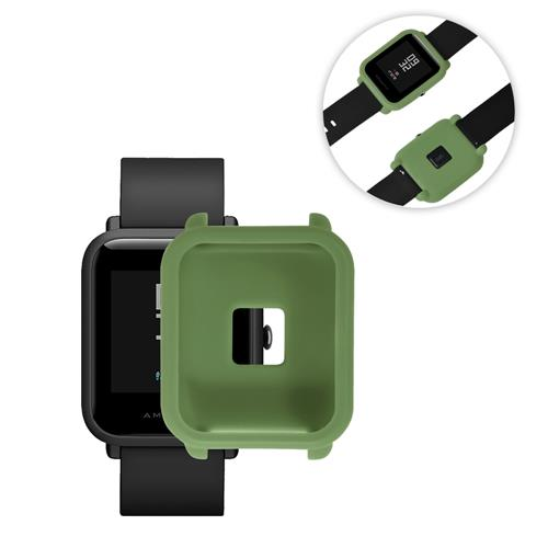 Silicone Protective Cover Case for Huami Amazfit Bip Smart Watch Anti-cracking Protective Case - Dark Green