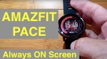 "XIAOMI AMAZFIT PACE IP67 Smartwatch ""Always On"" Screen: Unboxing and 1st Look [English Version]"
