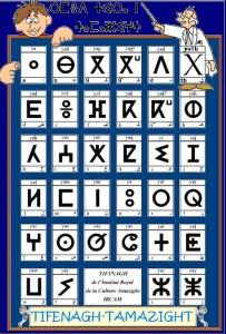 tifinagh 1 203x300 Amazigh langue: le Tifinagh
