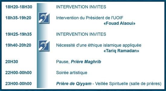 28ème RENCONTRE LE BOURGET 2011 SOIREE DU SAMEDI 23 AVRIL Amazigh :  le salon du Bourget UOIF 2011 :PROGRAMME DU 23 AVRIL