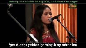 Une Bangladaise qui chante en Tamazight. ⵖⴰⵙ ⴸ-ⴰⵥⵔⵓ ⵢⴻⵃⴼⴰⵏ ⵃⴻⵎⵍⴰⵖ-ⴽ ⴰⵢ ⴰⴷⵔⴰⵔ ⵉⵏⵓ…! ⵙ-ⴷⴷⴰⵡ ⵉⴳⴻⵏⵡⴰⵏ ⵢⴻⴽⵛⴻⵎ ⴳⴻⵔ ⵉⵜⵔⴰⵏ…