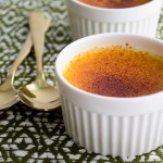 Creme brulee with spoons