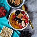 Figs-raspberries-blackberries-and-sugared-almonds-top-this-delicious-creamy-vegan-almond-ackee-creme-brulee,-6-ingredients-and-ready-in-about-an-hour-no-baking-required