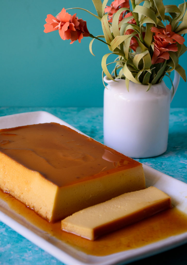 Smooth and silky ackee pimento flan