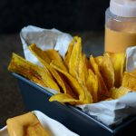 Homemade-green-plantain-chips-are-really-easy-to-make-and-taste-way-better-than-store-bought,-served-with-this-delicious-ackee-chipotle-mayo,-they-may-just-be-your-new-#vegan-snack