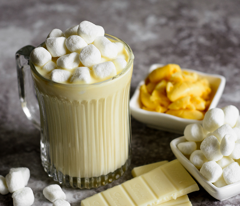 Ackee-Hot-Chocolate-white hot chocolate with a unique Jamaican twist