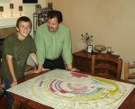man and son studying Amazing Bible Timeline