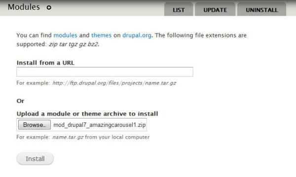How to insert the jQuery carousel to Drupal website ...
