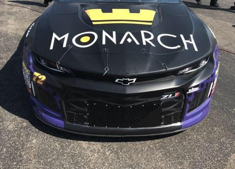 Monarch Token Sponsors TriStar Motorsports' Car 72 with Driver Corey LaJoie for the Monster Energy NASCAR Cup Series in the Kentucky, New Hampshire and Pocono Races