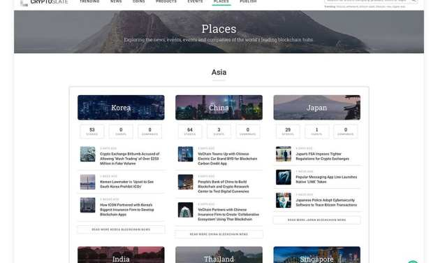 [ANN] Explore Blockchain Hubs Around the World with 'CryptoSlate Places'