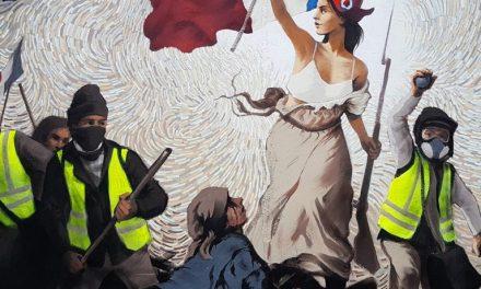 Street Artist Hides $1,000 in BTC Inside a Mural Depicting Paris Protests
