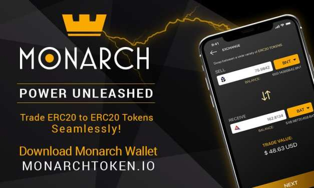 Monarch Wallet Decentralized Exchange Update: Users Can Now Trade All Totle Supported ERC-20 Tokens In-App