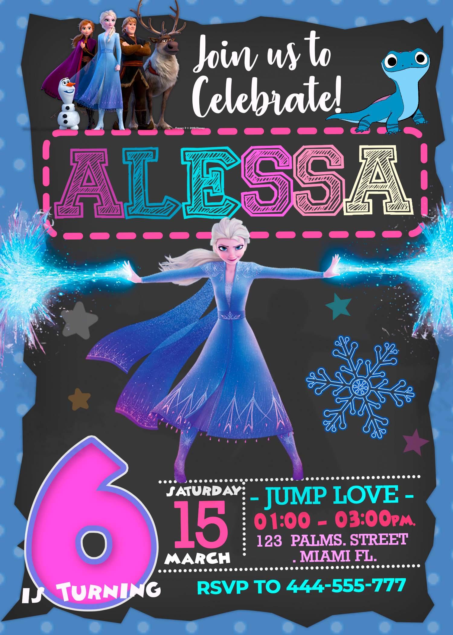 frozen 2 birthday party invitation