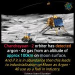Chandrayaan 2 detected argon 40 on moon