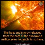 Sun core releases energy
