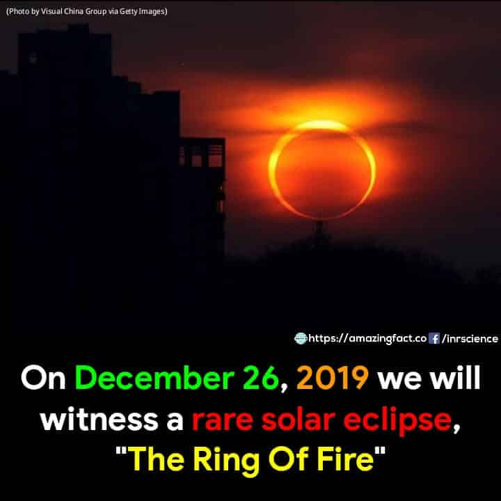 26th December 2019 Annular Solar Eclipse Time, Where and How To Watch