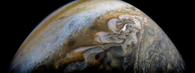 Jupiter's north temperate belt in this new view taken by NASA's Juno spacecraft.
