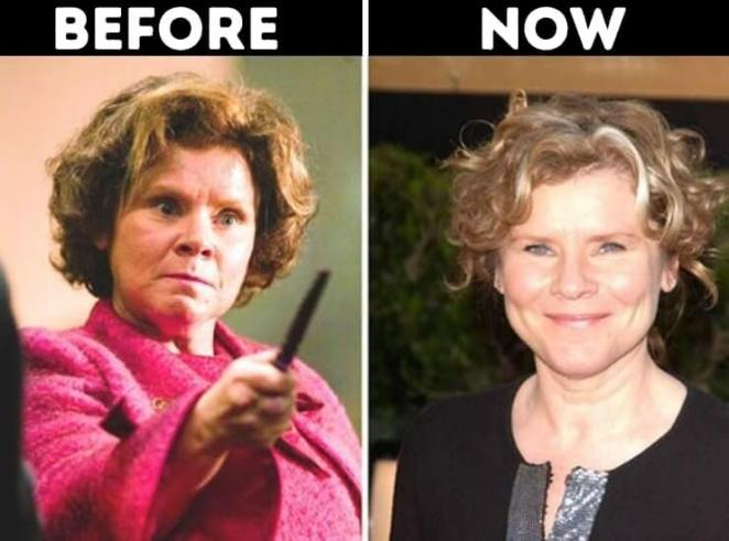 actors from Harry Potter now Dolores Umbridge played by Imelda Staunton