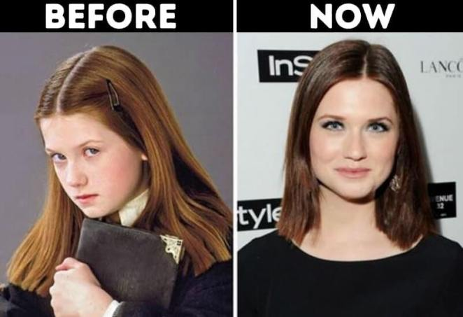 actors from Harry Potter now Ginny Weasley Played by Bonnie Wright