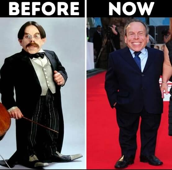 actors from Harry Potter now Griphook professor Flitwick Played by Warwick Davis
