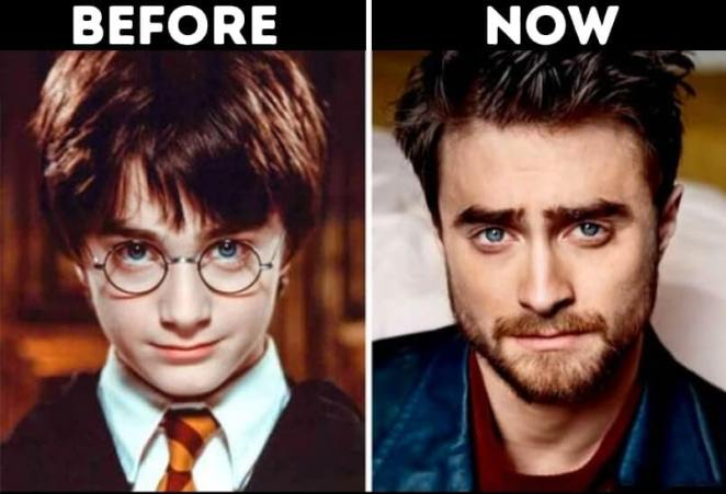 Actors from Harry Potter now Harry Potter played by Daniel Radcliffe