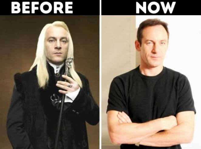actors from Harry Potter now Lucius Malfoy played by Jason Isaacs
