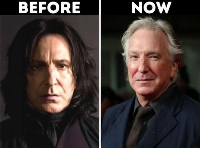 actors from Harry Potter now Severus snape played by Alan Rickman