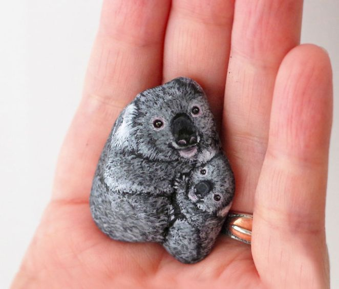 Artist Paints Found Stones That Look Like Real Koala And I Hope They Make You Smile