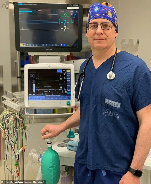 Dr Alain Gauthier, an anesthetist at the Perth and Smiths Falls District Hospital in Ontario