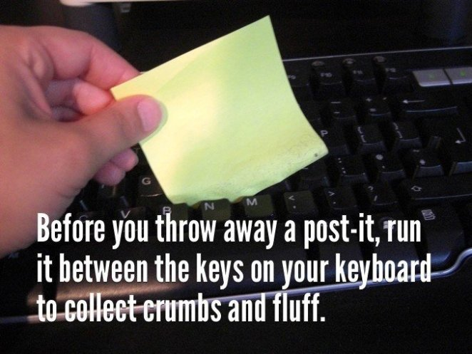 best life hacks for everyday problems clean keyboards easily