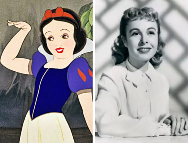 Disney Character Snow White and the Seven Dwarfs real person Marge Champion